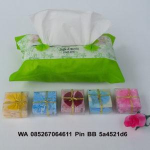 Souvenir Tempat Tissue Furing Sablon Nama