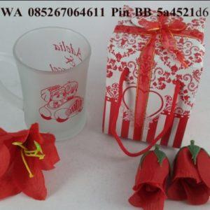 Souvenir Gelas Gagang Dove Box
