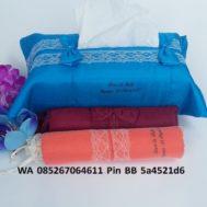 Souvenir Tempat Tissue Satin Renda