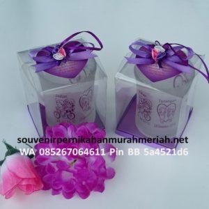 Souvenir Gelas Gagang Bunga